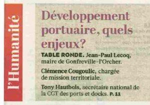Pour Jean-Paul Lecoq : l'Etat stratège doit faire son retour au printemps, il en va de l'avenir de nos ports !
