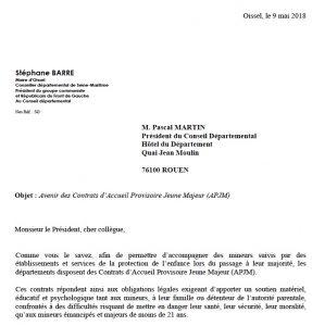 Contrats d'Accueil Provisoire Jeune Majeur (APJM) : le groupe interpelle le Président du département