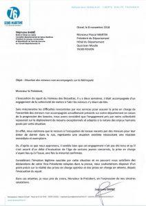 Situation des mineurs non accompagnés après l'évacuation du squat des Brouettes, Stéphane Barré demande le respect des engagements pris